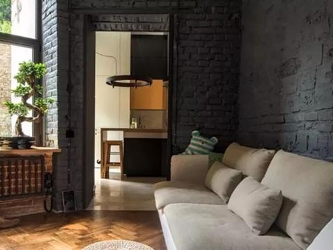 35平小公寓装修,入户门建阳光房,衣帽间塞床下面,洋气!