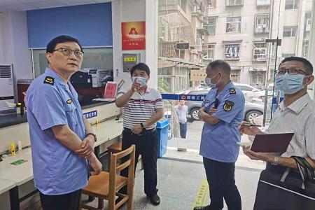 武汉市市场监管局副局长胡艺到洪山区督查特种设备安全工作