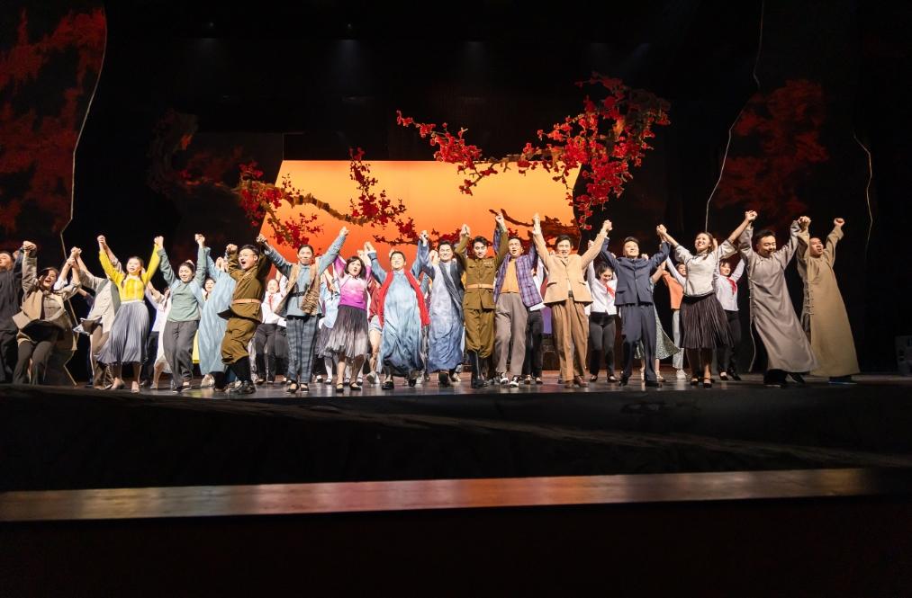 展示年轻时代的江姐 《红梅花开》音乐剧成都首演