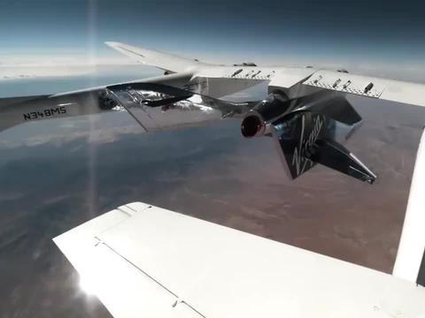 真刺激,维珍银河号飞船载人太空飞行全过程
