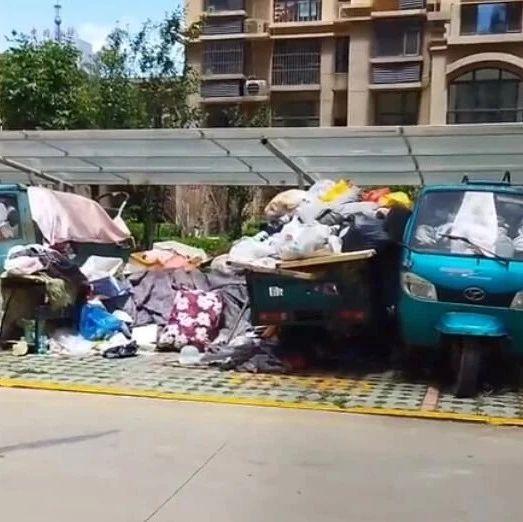 沧州这个小区公共车棚竟成杂物间