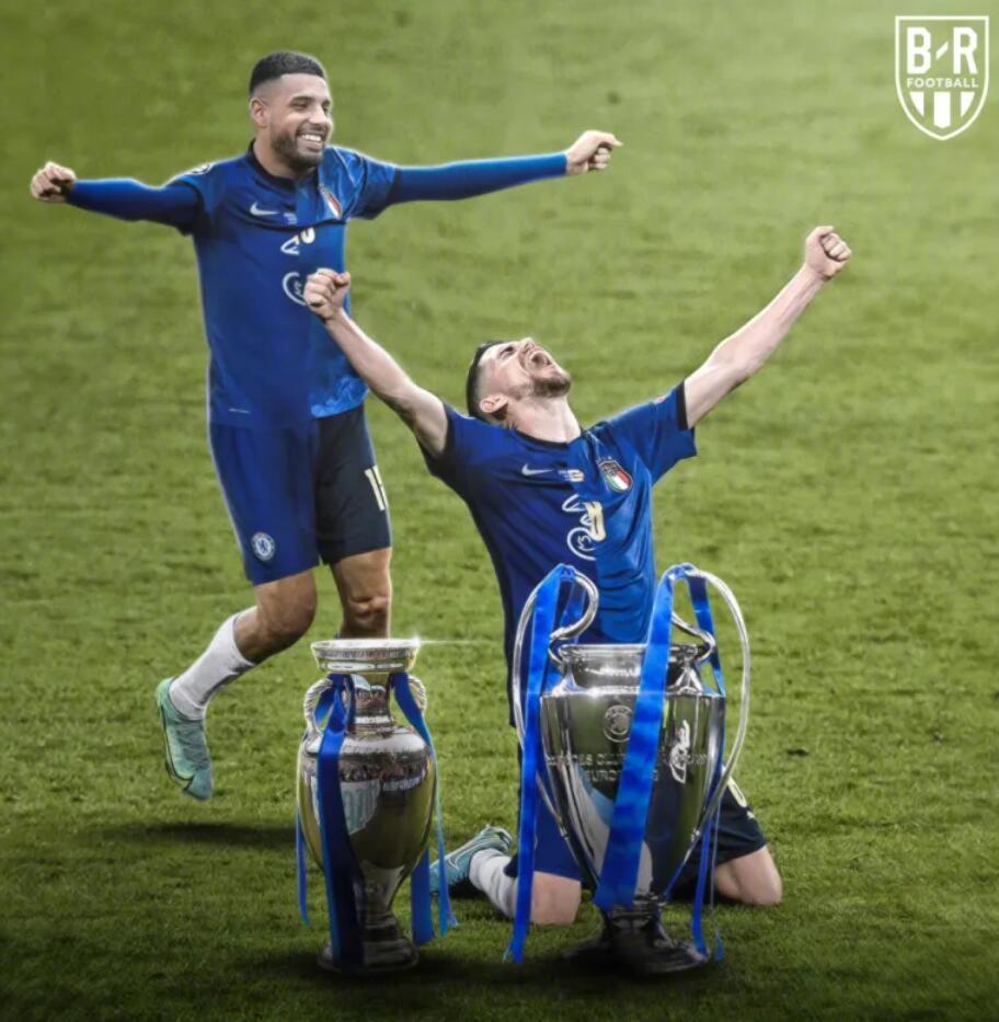 若日尼奥和埃莫森今年收获欧冠+欧洲杯冠军