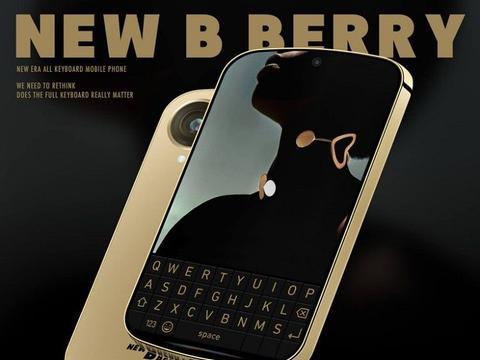 BlackBerry黑莓概念手机曝光,直角边框,自带显示屏键盘