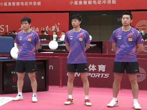 李隼欢呼秦志戬紧张,樊振东活跃气氛教练赞赏,马龙赢球害羞笑了