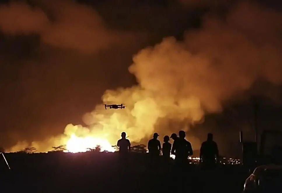 2018年美国夏威夷基拉韦厄火山爆发,救援人员使用大疆无人机 图自:美国内政部报告