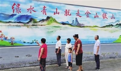 """惠丰西村:墙壁""""美颜"""" 村民展笑颜(图)"""