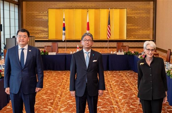 """台媒称美日韩副外长会晤强调""""维系台海和平稳定"""" 韩媒报道只字未提"""