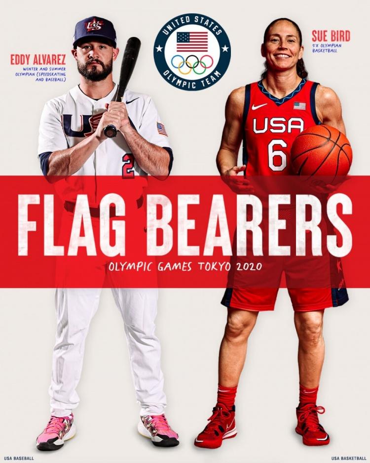 美国代表团东京奥运会开幕式旗手:阿尔瓦雷兹&伯德
