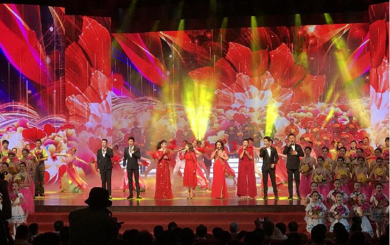 广东省职工庆祝中国共产党成立100周年文艺汇演在广州举行
