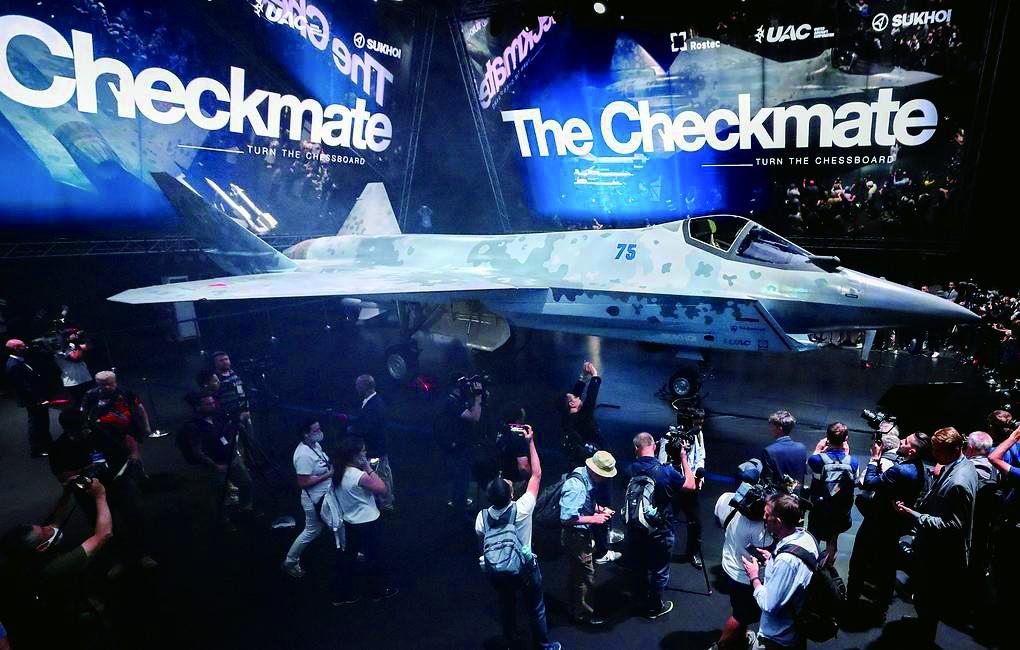 普京出席莫斯科航展,隐形战斗机成航展最受关注话题