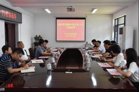 政企代表走访调研长沙卫生职业学院