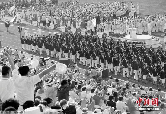 资料图:1984年的洛杉矶奥运会,是中国首次全程参与夏季奥运会。