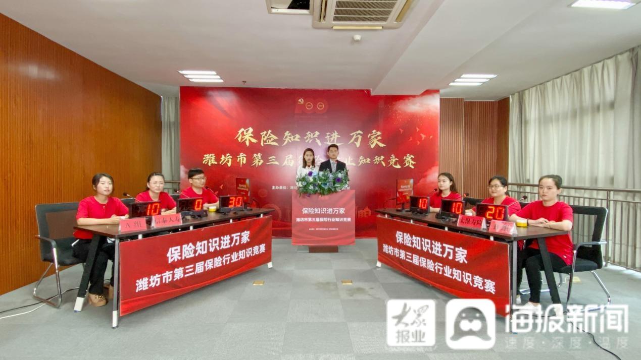潍坊市第三届保险行业知识竞赛预选赛7月23日赛况及下场预告