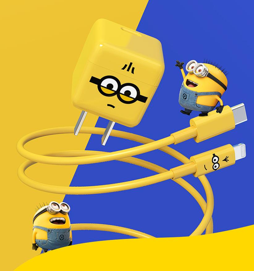 努比亚推出小黄人联名系列充电产品:含 65W 氮化镓套装、无线充