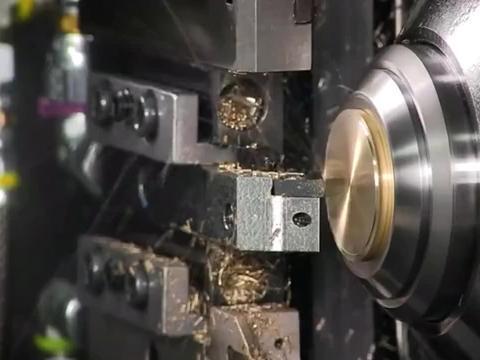 用机床加工一个铜旋钮,就简单的几刀,成本超高