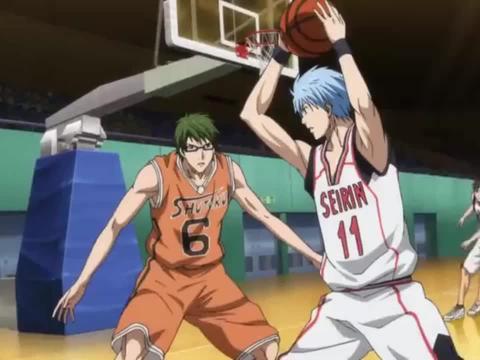 黑子的篮球:黑子不进行传球,他想要和绿间单人对战