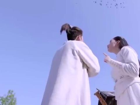 寻秦记:项少龙做滑翔翼,带着美女飞过悬崖,敌人射箭都够不着