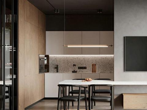 45平米小户型,全屋不吊顶更显高级,卧室用玻璃门隔断