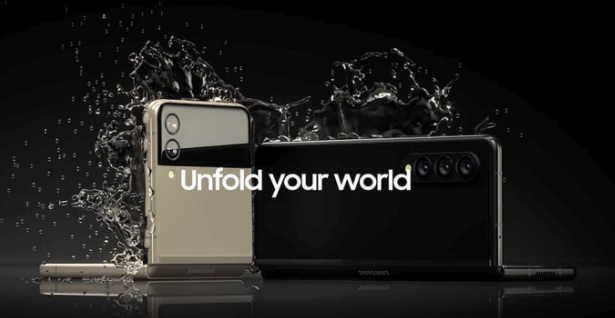 三星 Galaxy Z Flip/Fold 3 防水宣传图曝光 可达IPX8防水