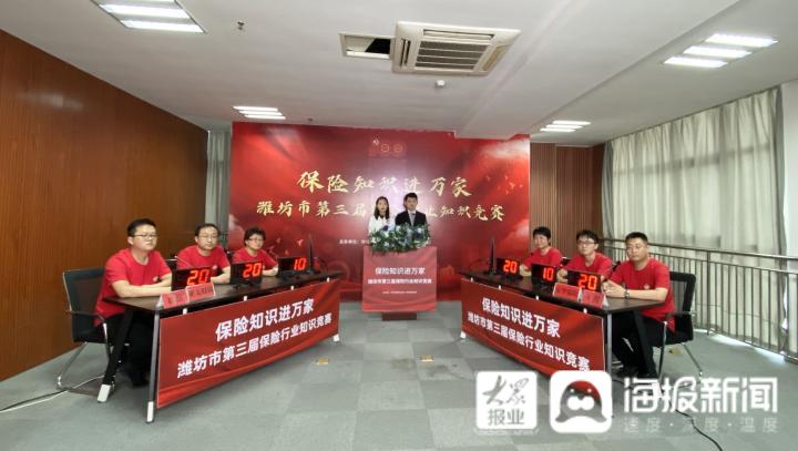 潍坊市第三届保险行业知识竞赛预选赛7月27日赛况及下场预告