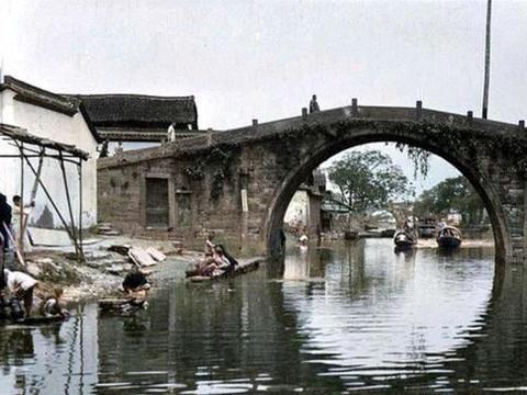"""看下百年前杭州的""""水乡风光"""""""