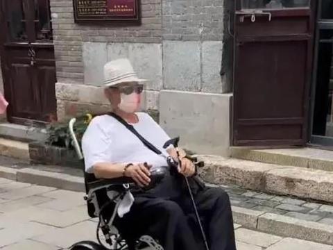 洪金宝坐轮椅出行,与小13岁混血娇妻很恩爱