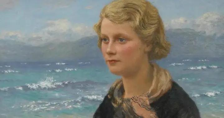 """苏格兰画家约翰·麦基的""""女人与海""""油画艺术作品欣赏"""