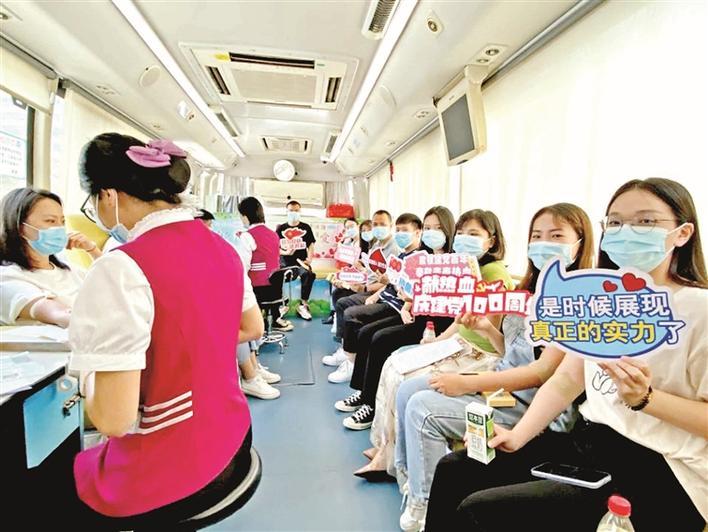 马田街道组织开展无偿献血活动