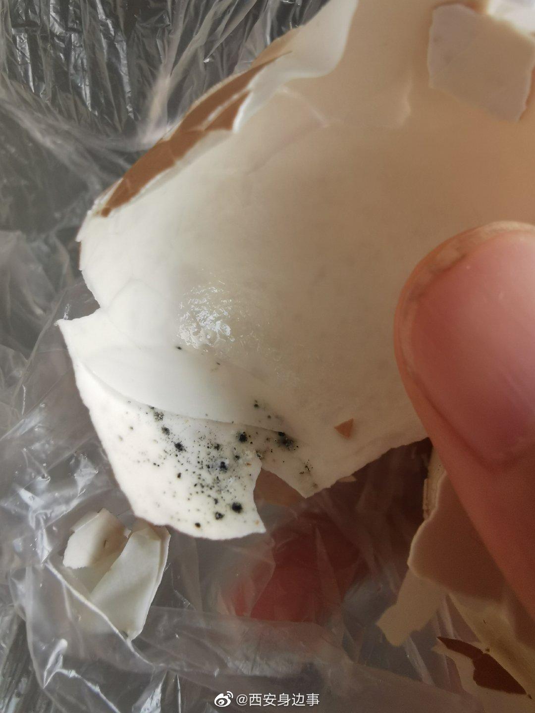 放心早餐鸡蛋蛋壳内发霉?