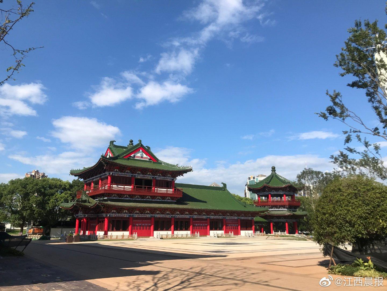 滕王阁南扩项目沿江仿古建筑初露真容