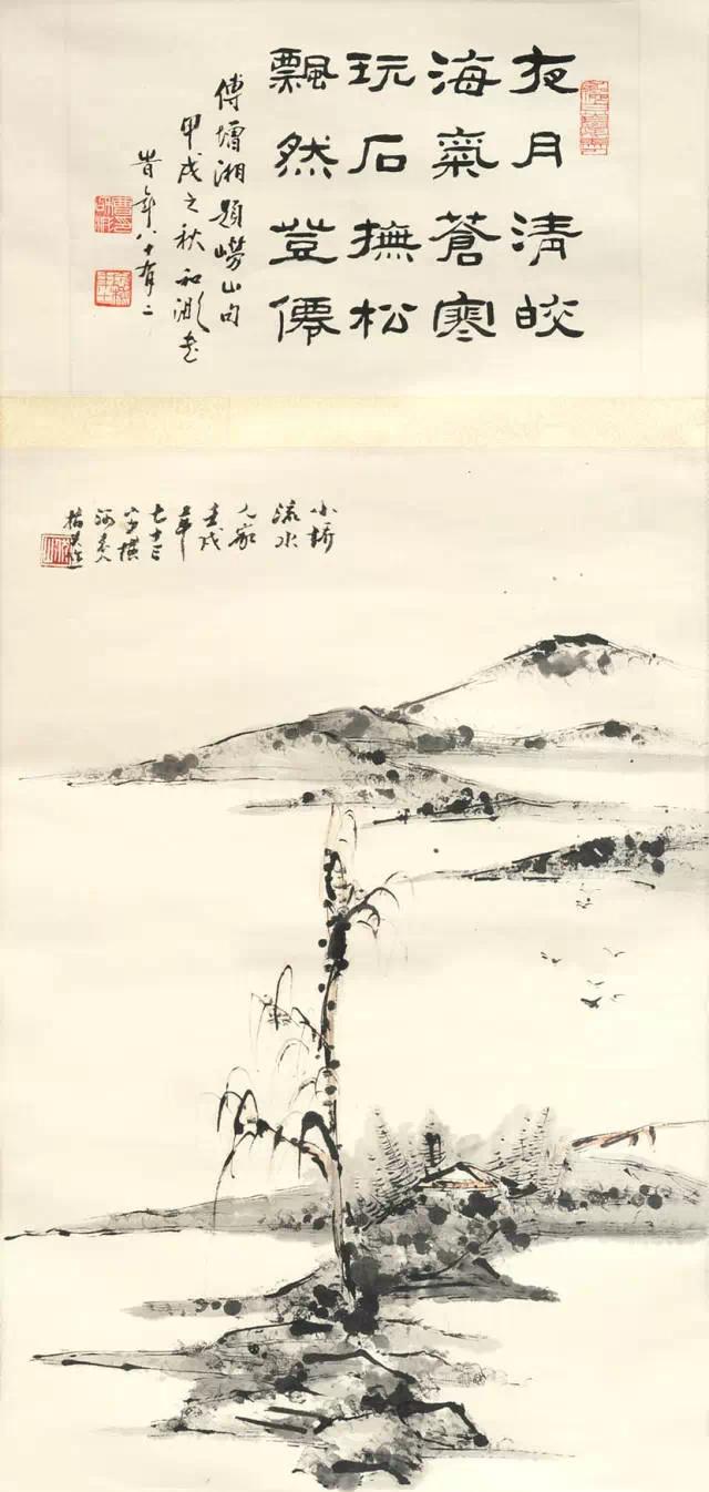 当代指画大师张伏山精品书画欣赏