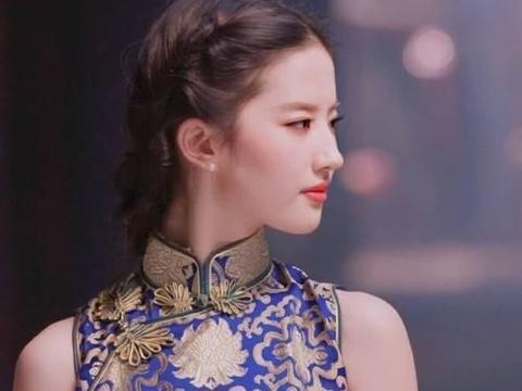 刘亦菲终于对旗袍下手,看她穿上效果,难怪男粉丝的眼睛都看直了