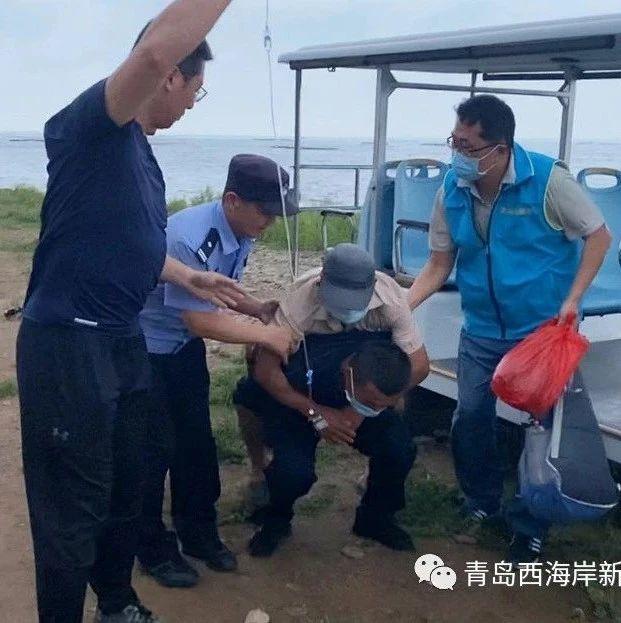 """台风""""烟花""""来袭,青岛出动直升机,三地联动紧急救治海岛居民!"""