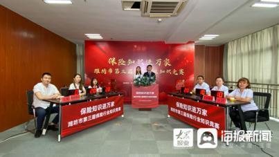 潍坊市第三届保险行业知识竞赛预选赛7月30日赛况