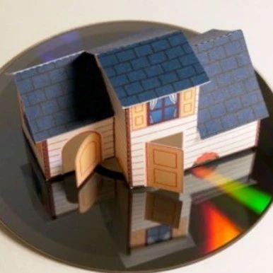 用纸做一个迷你小屋,既是玩具也是装饰(附图纸)