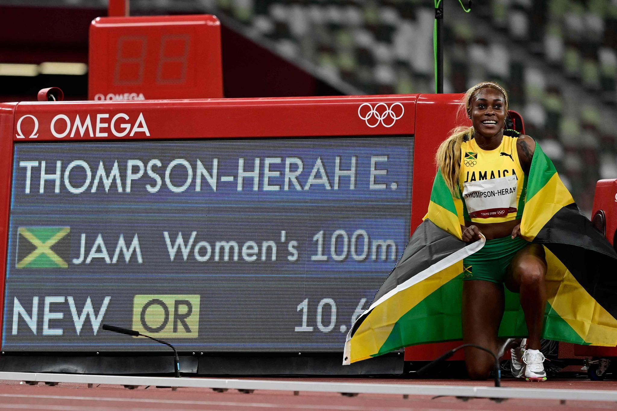打破33年奥运纪录!牙买加选手包揽女子100米金银牌