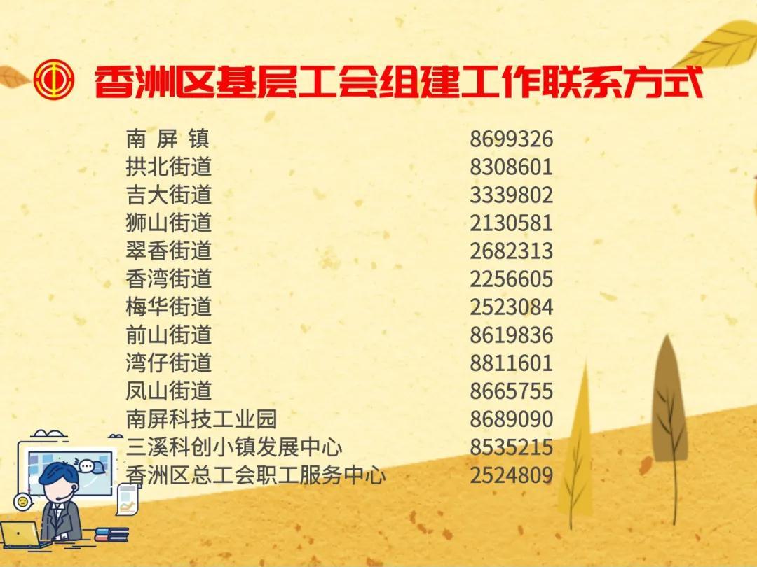 香洲区企业新组建工会可领双份奖励 最高奖金达5.5万元
