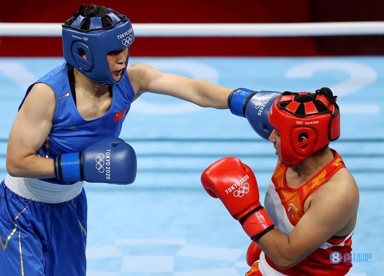 拳击女子中量级1/4决赛 李倩击败印度选手晋级半决赛