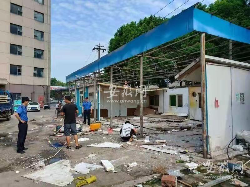 合肥西一环府台酒店院内1000平方米违建被拆除