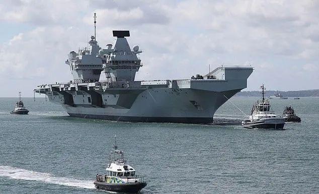 臺媒:英航母編隊首度通過巴士海峽 大陸軍艦一路跟隨