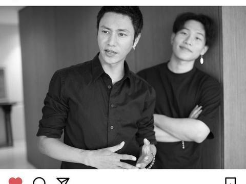 陈坤与19岁儿子真像兄弟!两人穿黑look太抢镜,陈坤比儿子还帅