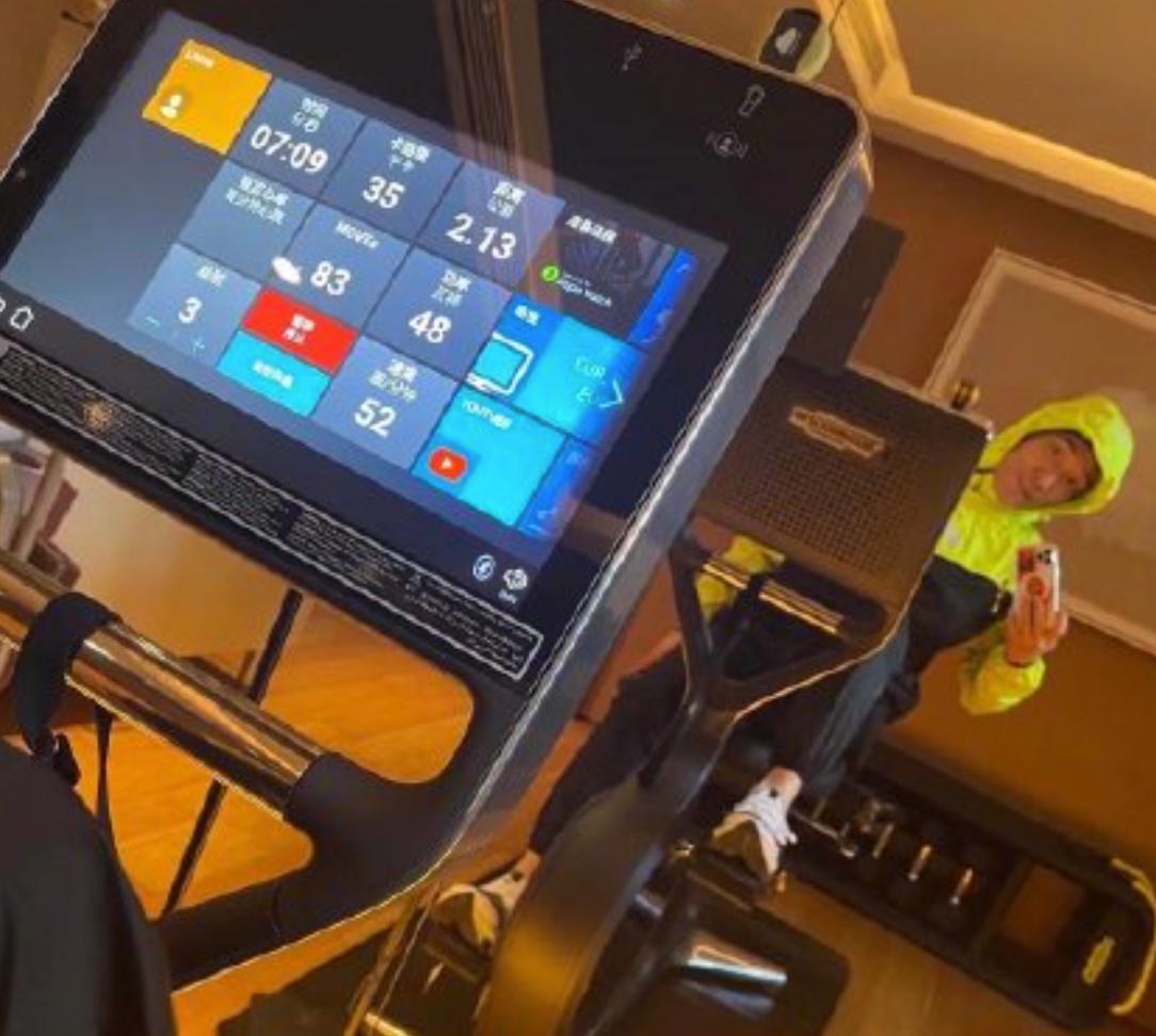 51岁林依轮追奥运狂瘦10斤!在健身房流了满地汗水,网友:太夸张