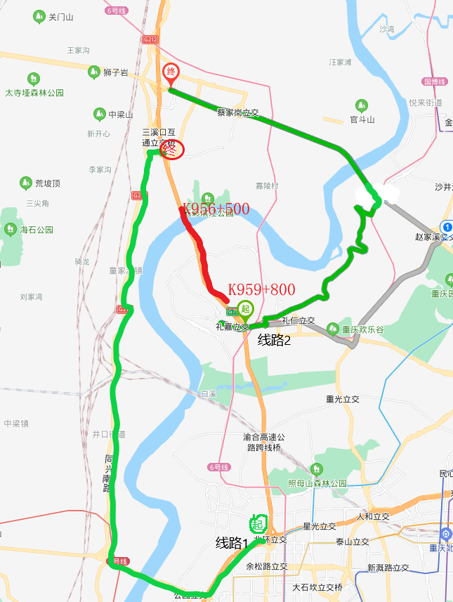 8月6-18日G75兰海高速马鞍石大桥出城方向封闭施工,过往车辆这样绕行