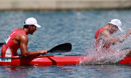 奥运男子1000米双人皮艇决赛,中国王丛康/卜廷凯斩获第8