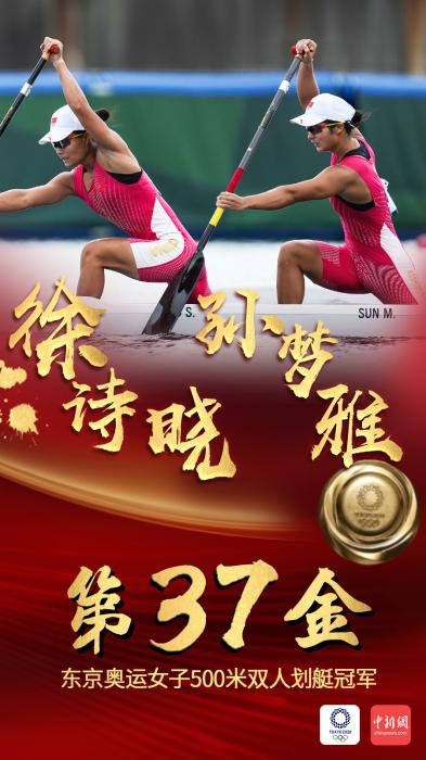 第37金!徐诗晓/孙梦雅夺女子500米双人划艇冠军