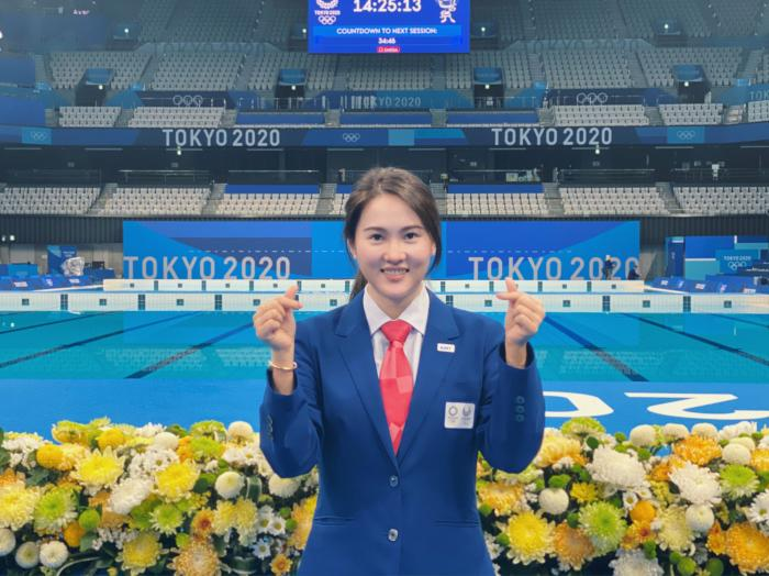 陈若琳在东京奥运赛场。受访者供图。