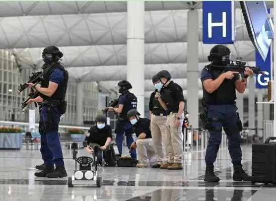 香港警方反恐演习画面(资料图)