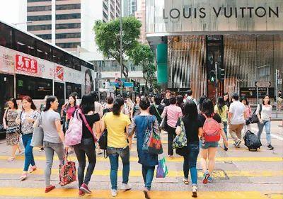 香港商圈游人如织(2018年)