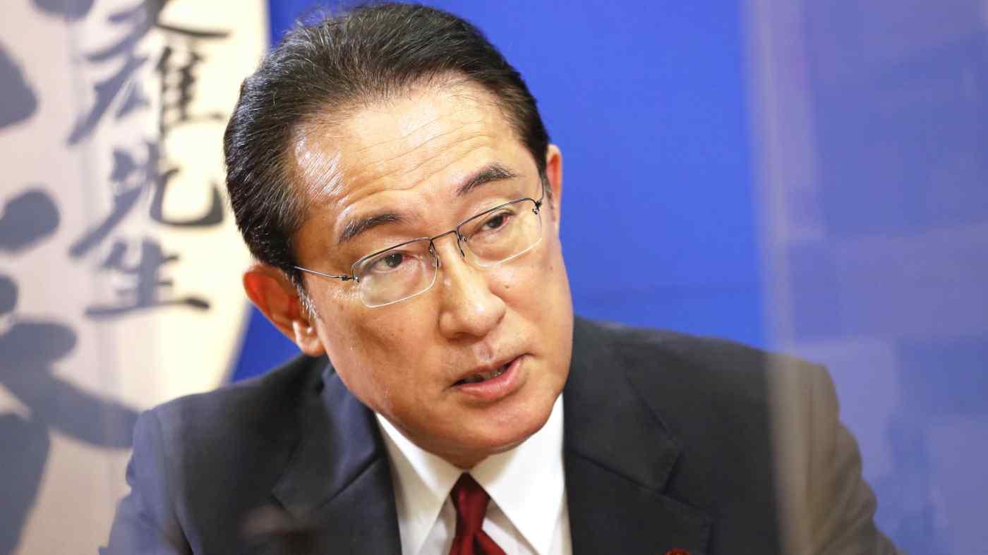 接受采访的岸田文雄 图自日经亚洲