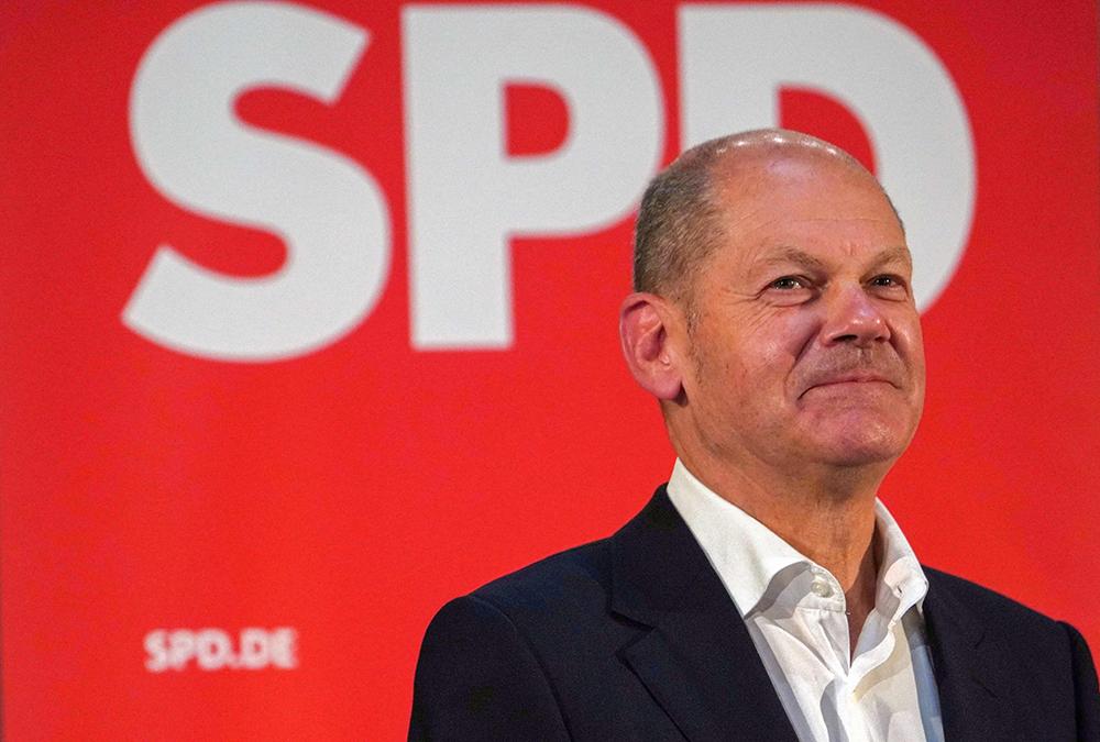 德国社民党总理候选人肖尔茨。人民视觉 资料图